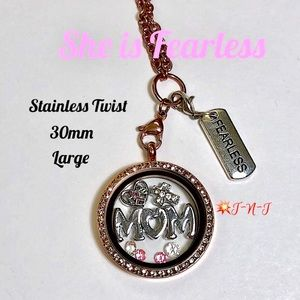 Jewelry - She Is Fearless Stainless Locket